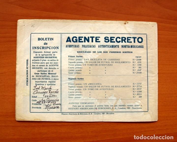 Tebeos: Agente Secreto, nº 13, Buscando peces gordos - Editorial Hispano Americana 1957 - Tamaño 17x24 - Foto 7 - 98184499