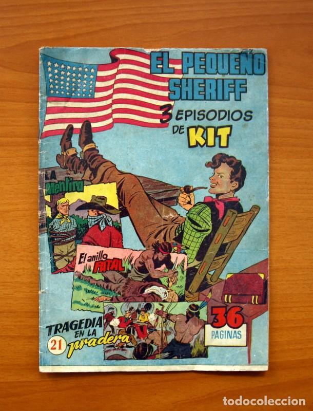 EL PEQUEÑO SHERIFF, Nº 21 - EDITORIAL HISPANO AMERICANA 1953 - TAMAÑO 24X17 (Tebeos y Comics - Hispano Americana - Otros)