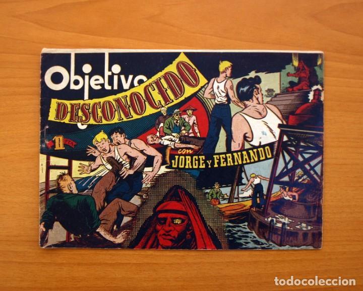 JORGE Y FERNANDO Nº 78, OBJETIVO DESCONOCIDO - EDITORIAL HISPANO AMERICANA 1940 - TAMAÑO 17X24 (Tebeos y Comics - Hispano Americana - Jorge y Fernando)