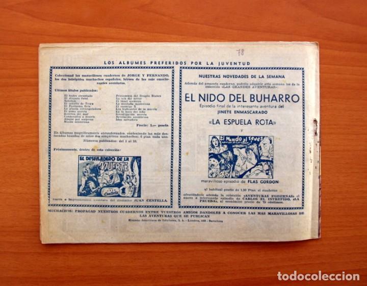 Tebeos: Jorge y Fernando nº 78, Objetivo desconocido - Editorial Hispano Americana 1940 - Tamaño 17x24 - Foto 7 - 98213695