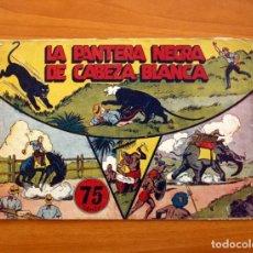 Tebeos: JORGE Y FERNANDO Nº 27, LA PANTERA NEGRA DE CABEZA BLANCA - HISPANO AMERICANA 1940 - TAMAÑO 17X24. Lote 98217575