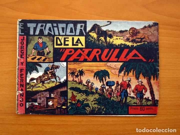 JORGE Y FERNANDO Nº 12, EL TRAIDOR DE LA PATRULLA - HISPANO AMERICANA 1940 - TAMAÑO 17X24 (Tebeos y Comics - Hispano Americana - Jorge y Fernando)