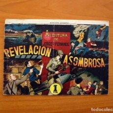 Tebeos: JORGE Y FERNANDO Nº 76, REVELACIÓN ASOMBROSA - HISPANO AMERICANA 1940 - TAMAÑO 17X24. Lote 98219531
