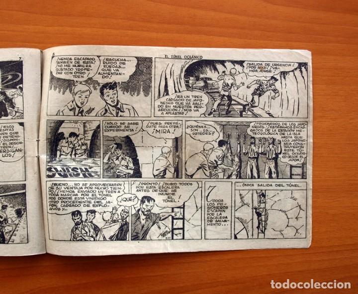Tebeos: Jorge y Fernando, nº 70, El túnel oceánico - Editorial Hispano Americana 1940 - Tamaño 17x24 - Foto 5 - 98220323