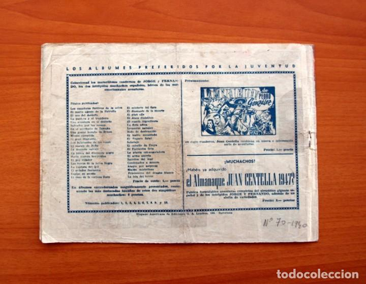 Tebeos: Jorge y Fernando, nº 70, El túnel oceánico - Editorial Hispano Americana 1940 - Tamaño 17x24 - Foto 7 - 98220323