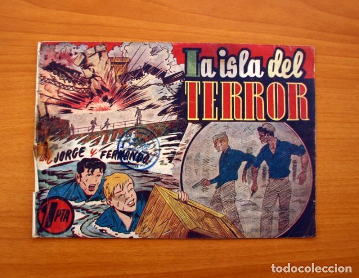 JORGE Y FERNANDO, Nº 69 LA ISLA DEL TERROR - EDITORIAL HISPANO AMERICANA 1940 - TAMAÑO 17X24 (Tebeos y Comics - Hispano Americana - Jorge y Fernando)