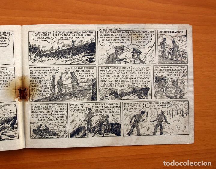 Tebeos: Jorge y Fernando, nº 69 La isla del terror - Editorial Hispano Americana 1940 - Tamaño 17x24 - Foto 4 - 98220627