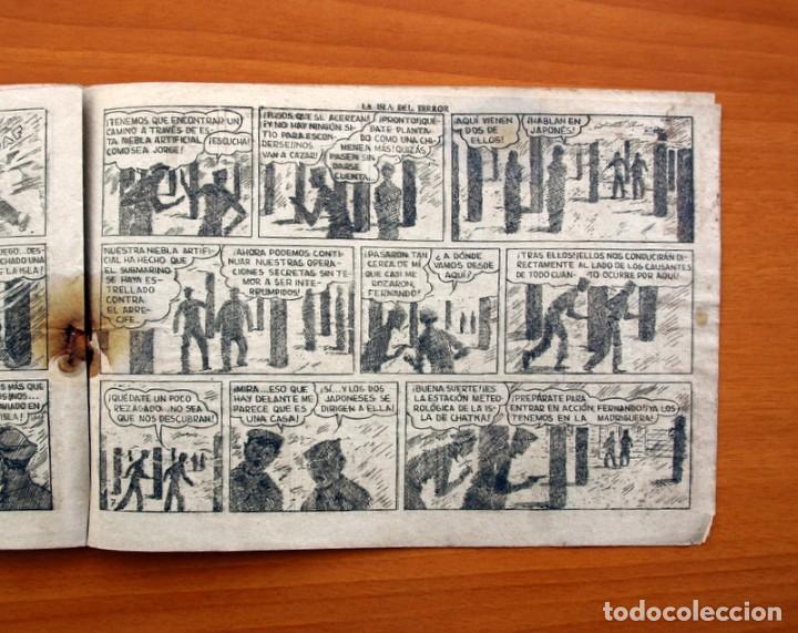 Tebeos: Jorge y Fernando, nº 69 La isla del terror - Editorial Hispano Americana 1940 - Tamaño 17x24 - Foto 5 - 98220627
