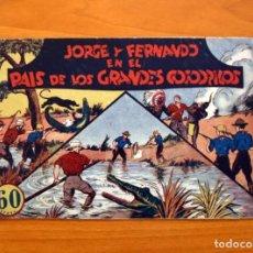 Tebeos: JORGE Y FERNANDO, Nº 15 - EN EL PAIS DE LOS GRANDES COCODRILOS - EDITORIAL HISPANO AMERICANA 1940. Lote 98222487