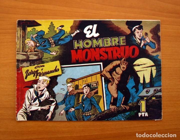 JORGE Y FERNANDO Nº 82, EL HOMBRE MONSTRUO - HISPANO AMERICANA 1940 - TAMAÑO 17X24 (Tebeos y Comics - Hispano Americana - Jorge y Fernando)