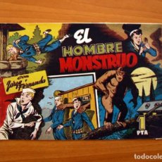 Tebeos: JORGE Y FERNANDO Nº 82, EL HOMBRE MONSTRUO - HISPANO AMERICANA 1940 - TAMAÑO 17X24. Lote 98223799