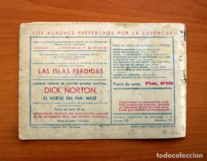 Tebeos: Jorge y Fernando nº 18, Miji el hombre tortuga - Editorial Hispano Americana 1940 - Tamaño 17x24 - Foto 7 - 98224199