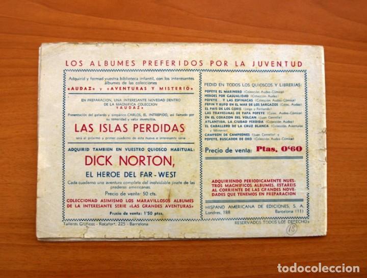 Tebeos: Jorge y Fernando nº 18, Miji el hombre tortuga - Editorial Hispano Americana 1940 - Tamaño 17x24 - Foto 8 - 98224539