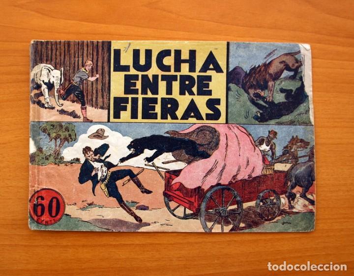 JORGE Y FERNANDO Nº 14, LUCHA ENTRE FIERAS - HISPANO AMERICANA 1940 - TAMAÑO 17X24 (Tebeos y Comics - Hispano Americana - Jorge y Fernando)