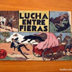 Tebeos: JORGE Y FERNANDO Nº 14, LUCHA ENTRE FIERAS - HISPANO AMERICANA 1940 - TAMAÑO 17X24. Lote 98224795