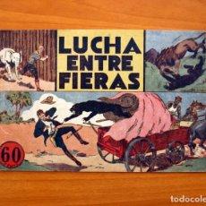 Tebeos: JORGE Y FERNANDO Nº 14, LUCHA ENTRE FIERAS - HISPANO AMERICANA 1940 - TAMAÑO 17X24. Lote 98224983