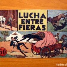 Tebeos: JORGE Y FERNANDO Nº 14, LUCHA ENTRE FIERAS - HISPANO AMERICANA 1940 - TAMAÑO 17X24. Lote 98225279