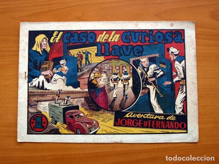 JORGE Y FERNANDO Nº 48, EL CASO DE LA CURIOSA LLAVE - EDITORIAL HISPANO AMERICANA 1940 -TAMAÑO 21X32 (Tebeos y Comics - Hispano Americana - Jorge y Fernando)