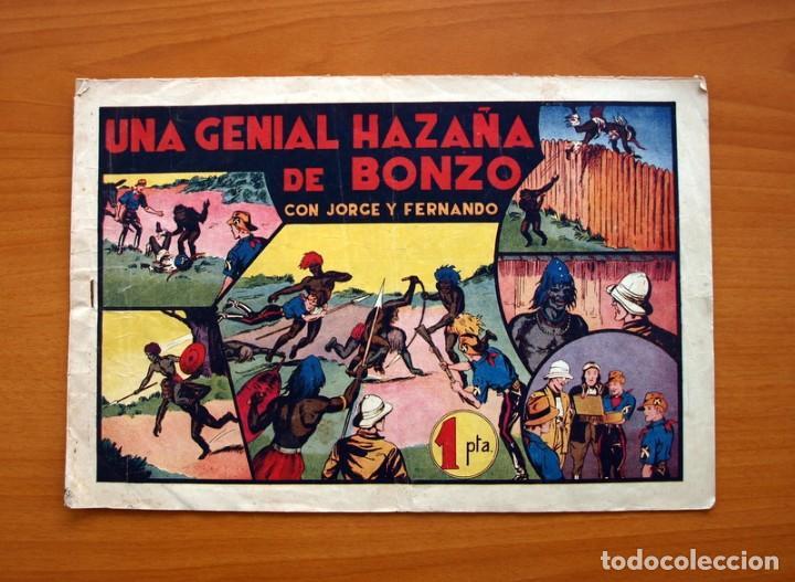 JORGE Y FERNANDO, Nº 35, UNA GENIAL HAZAÑA DE BONZO - EDITORIAL HISPANO AMERICANA 1940 -TAMAÑO 21X32 (Tebeos y Comics - Hispano Americana - Jorge y Fernando)