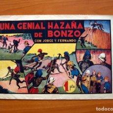 Tebeos - Jorge y Fernando, nº 35, Una genial hazaña de Bonzo - Editorial Hispano Americana 1940 -Tamaño 21x32 - 98345315