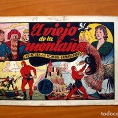 Tebeos: EL HOMBRE ENMASCARADO, Nº 27, EL VIEJO DE LA MONTAÑA - EDITORIAL HISPANO AMERICANA 1941-TAMAÑO 21X32. Lote 98345803