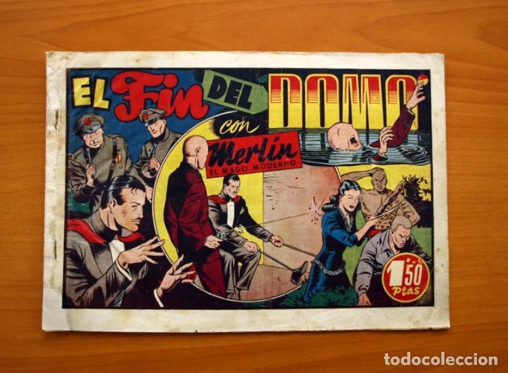 MERLIN EL MAGO - Nº 21, EL FIN DEL DOMO- EDITORIAL HISPANO AMERICANA 1942 - TAMAÑO 21X32 (Tebeos y Comics - Hispano Americana - Merlín)