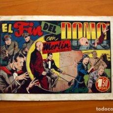 Tebeos: MERLIN EL MAGO - Nº 21, EL FIN DEL DOMO- EDITORIAL HISPANO AMERICANA 1942 - TAMAÑO 21X32. Lote 98348435