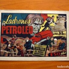 Tebeos: MERLIN EL MAGO - Nº 25, LOS LADRONES DE PETROLEO - EDITORIAL HISPANO AMERICANA 1942 - TAMAÑO 21X32. Lote 98348567
