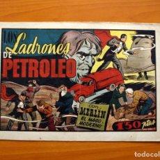 Tebeos: MERLIN EL MAGO - Nº 25, LOS LADRONES DE PETROLEO - EDITORIAL HISPANO AMERICANA 1942 - TAMAÑO 21X32. Lote 98348763