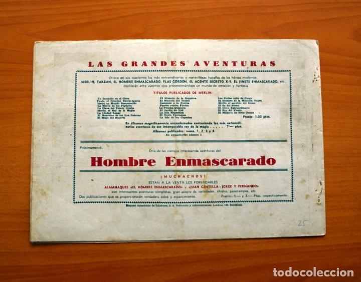 Tebeos: Merlin el mago - nº 25, Los ladrones de petroleo - Editorial Hispano Americana 1942 - Tamaño 21x32 - Foto 6 - 98348763