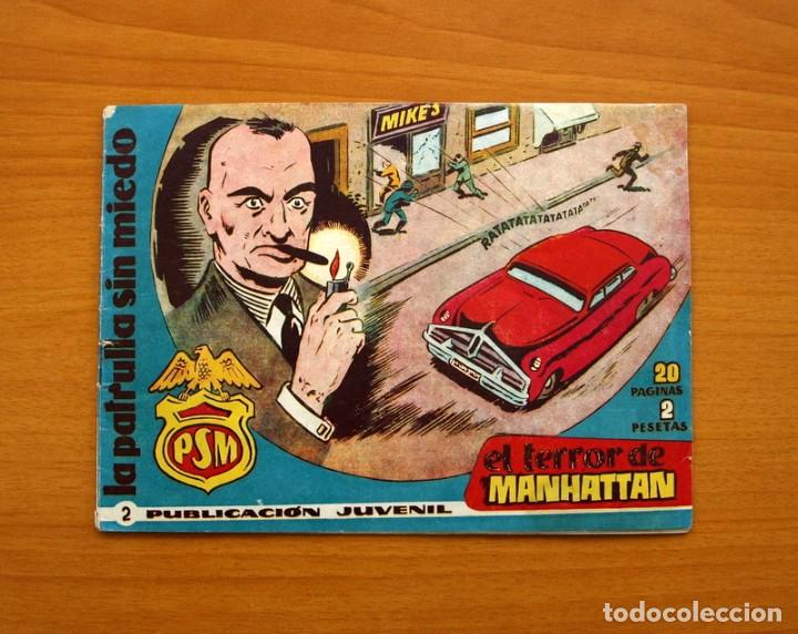 LA PATRULLA SIN MIEDO, Nº 2, EL TERROR DE MANHATTAN - EDITORIAL HISPANO AMERICANA 1961- TAMAÑO 15X22 (Tebeos y Comics - Hispano Americana - Otros)