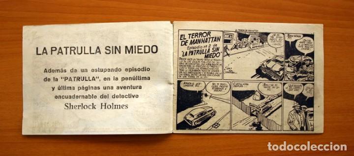 Tebeos: La patrulla sin miedo, nº 2, El terror de Manhattan - Editorial Hispano Americana 1961- Tamaño 15x22 - Foto 2 - 98351291