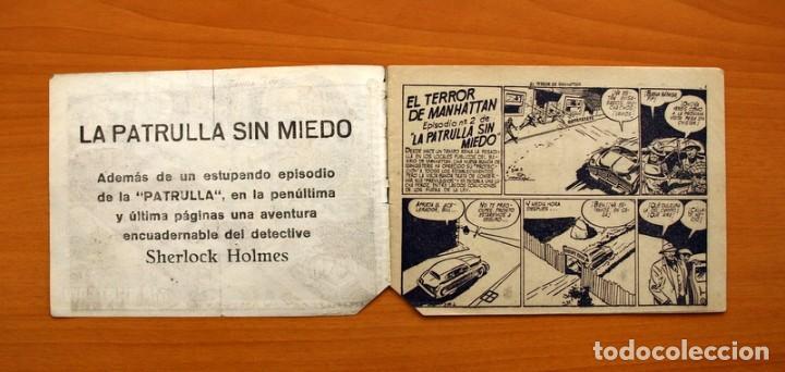 Tebeos: La patrulla sin miedo, nº 2, El terror de Manhattan - Editorial Hispano Americana 1961- Tamaño 15x22 - Foto 2 - 98351347