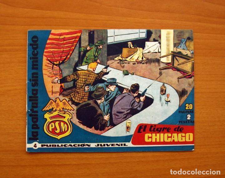 LA PATRULLA SIN MIEDO, Nº 4, EL TIGRE DE CHICAGO - EDITORIAL HISPANO AMERICANA 1961 - TAMAÑO 15X22 (Tebeos y Comics - Hispano Americana - Otros)