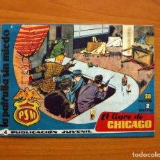 Tebeos: LA PATRULLA SIN MIEDO, Nº 4, EL TIGRE DE CHICAGO - EDITORIAL HISPANO AMERICANA 1961 - TAMAÑO 15X22. Lote 98351703
