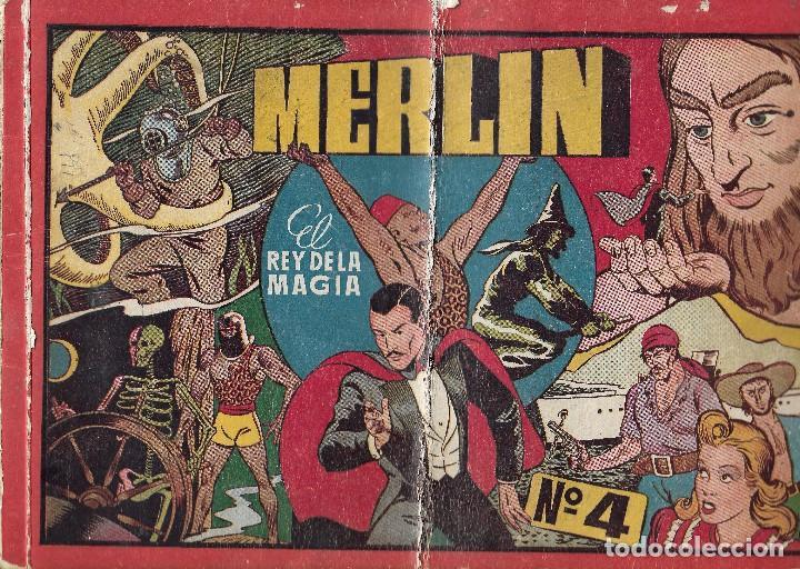 MERLIN EL REY DE LA MAGIA - ALBUM ROJO Nº4 - HISPANO AMERICANA DE EDICIONES, 1944. (Tebeos y Comics - Hispano Americana - Merlín)