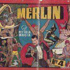 Tebeos: MERLIN EL REY DE LA MAGIA - ALBUM ROJO Nº4 - HISPANO AMERICANA DE EDICIONES, 1944.. Lote 99145611