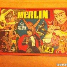 Tebeos: MERLIN - ALBUM ROJO Nº. 4 - MUY BIEN CONSERVADO. Lote 99197371