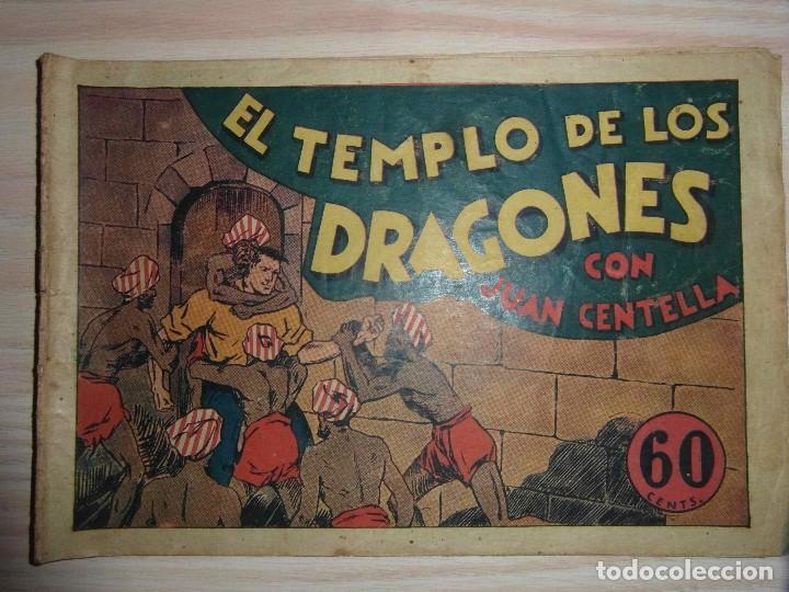 EL TEMPLO DE LOS DRAGONES.JUAN CENTELLA Nº 27 DE AUDAZ.EDIT. HISPANO AMERICANA.DIBUJA C. COSSIO (Tebeos y Comics - Hispano Americana - Juan Centella)