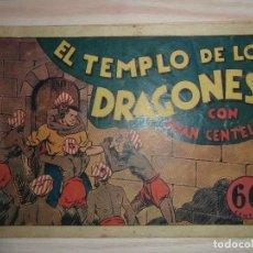 Tebeos: EL TEMPLO DE LOS DRAGONES.JUAN CENTELLA Nº 27 DE AUDAZ.EDIT. HISPANO AMERICANA.DIBUJA C. COSSIO. Lote 99248799