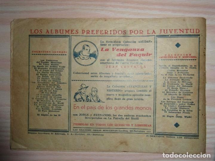 Tebeos: El templo de los dragones.Juan Centella nº 27 de Audaz.Edit. Hispano Americana.Dibuja C. Cossio - Foto 2 - 99248799
