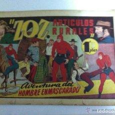 Tebeos: HOMBRE ENMASCARADO - ZOZ - ARTÍCULOS RURALES. Lote 99293567