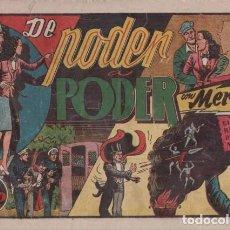 Tebeos: DE PODER A PODER, CON MERLÍN EL REY DE LA MAGIA. BARCELONA, HISPANO AMERICANA C. 1942.. Lote 99437151