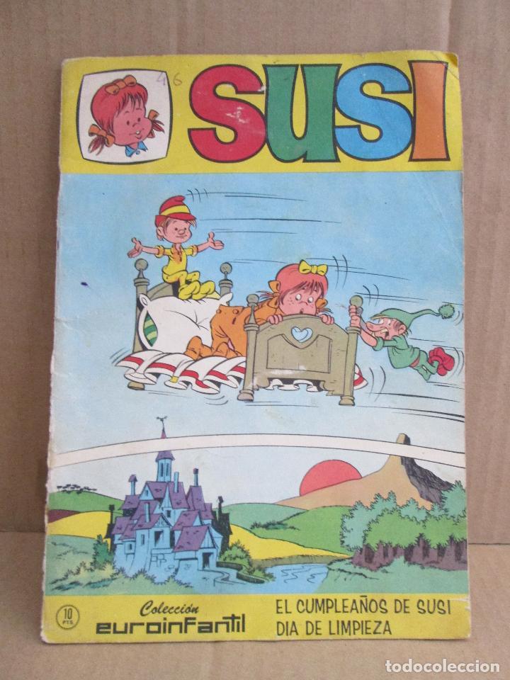 SUSI, COLECCIÓN EUROINFANTIL, EL CUMPLEAÑOS DE SUSI, DÍA DE LIMPIEZA. 1968 (Tebeos y Comics - Hispano Americana - Leyendas Infantiles)