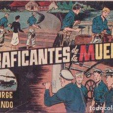 Tebeos: LOS TRAFICANTES DE LA MUERTE. CON JORGE Y FERNANDO. HISPANO AMERICANA AÑOS 40. SEÑALES DE USO. Lote 99685839