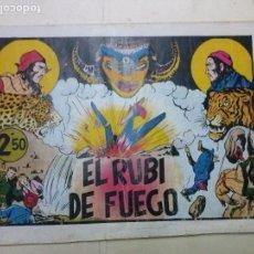 Tebeos: LAS GRANDES AVENTURAS, EL RUBI DE FUEGO ,EXTRA,HISPANO AMERICANA,ORIGINAL 2,50. Lote 100922375