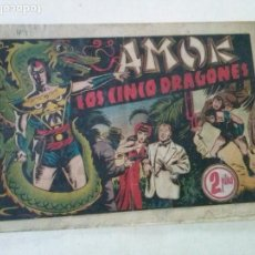 Tebeos: AMOK Nº 5 LOS CINCO DRAGONES,HISPANO AMERICANA ,ORIGINAL. Lote 101302595