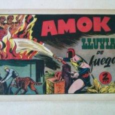 Tebeos: AMOK Nº 27 LLUVIA DE FUEGO,HISPANO AMERICANA ,ORIGINAL. Lote 101303463