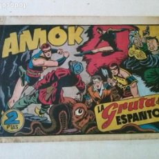 Tebeos: AMOK Nº 18 LA GRUTA DEL ESPANTO,HISPANO AMERICANA ,ORIGINAL. Lote 101305171