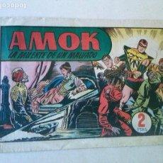 Tebeos: AMOK Nº 19 LA MUERTE DE UN MALVADO,HISPANO AMERICANA ,ORIGINAL. Lote 101306791